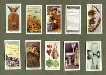 Tobacco cigarette cards set Treasure Trove,The Rosetta Stone,Mount Sinai Bible